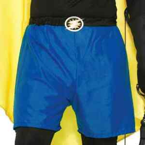 Be Your Own Hero Shorts Superhero Halloween Adult Costume Accessory 4 COLORS