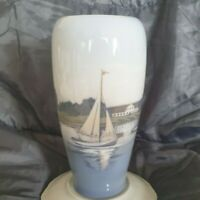 Royal Copenhagen Vase with Sailing Ship No 4468