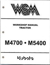 Kubota M4700 M5400 Tractor Workshop Service Repair Manual  97897-11793