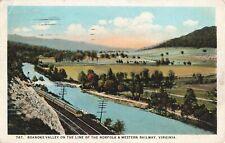 Postcard Norfolk and Western Railway Roanoke Valley Virginia