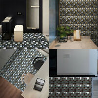 10Pcs Mosaic Wall Tile Sticker Decor Self-adhesive Waterproof Oil-proof Kitchen