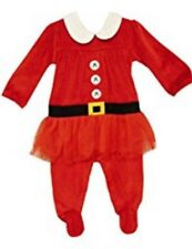 NEXT Baby Girls Christmas Mrs Santa Velour Sleepsuit Up to 3 Months ⭐️BNWT⭐️