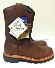 Chippewa Wellington Cowboy Working Boots Norwegian Welt Mens 25975 Size 7.5M