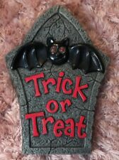 Blow Mold Paper Magic Group Halloween Bat Light Wall Plaque Decoration Grave vtg
