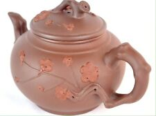 Cherry Blossom Branch Spout Teapot Chinese Yixing