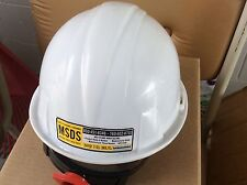Pyramex Hard Hat - Ratchet Suspension - White with safety glasses