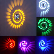 Spiral 3W LED Wall Sconce Light Fixture Lamp Bulb Porch Bedroom Disco Bar LD524
