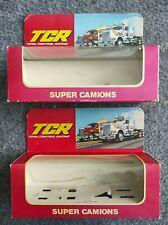 TCR CDF : lot de 2 boîtes vide pour SUPER CAMION TCR, état correct