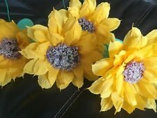 """Mexican Crepe Paper Flowers Sunflowers Set of 4 """"We Make Special Orders"""""""