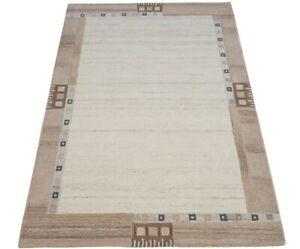Carpet 100% Wool Bend Grey Braun 160x230 CM Oriental Rug Hand Woven HT363