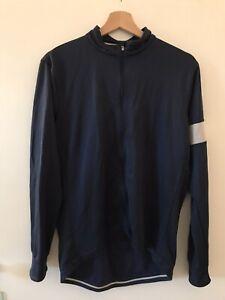 Rapha mens long sleeve cycling jersey large (Navy)