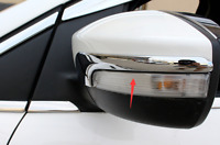 2xABS Chrome Side Mirror Trim  For Ford Kuga/Escape 2013-2016 With Turn Light
