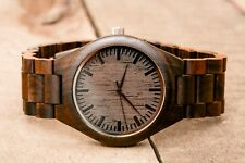 Custom Engraved Wooden Watch Personalized Wood Watch USA Gift Groomsman Quartz