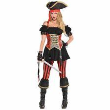Lassie Lady Pirate Costume Adult Ladies Womens Buccaneer Fancy Dress 8-20