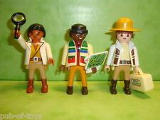 Playmobil : Lot de 3 personnages playmobil / figure saurus team