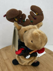 Gemmy Merry Moose Animated Reindeer Guitar Christmas Lights Jingle Bell Rock