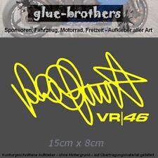 Rossi Autogramm Moto GP 46 VR46 Sticker Vale Unterschrift Aufkleber The Doctor