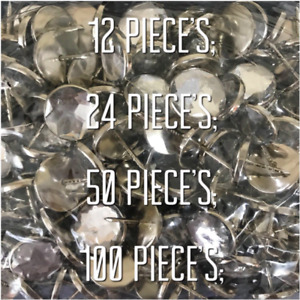Clear White or Black Crystal Diamante Buttons Upholstery Bed Headboard 14mm 22mm