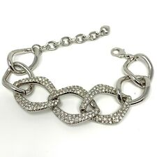 NEW LARGE CHUNKY CHAIN FASHION BRACELET WITH CRYSTALS