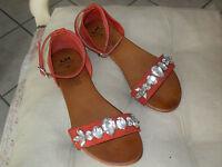Sandales rouge - P 37 - Très bon état