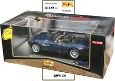 Maisto 36896 1:18 BMW Z8 BLUE  Maisto Showroom Display Unit. Slight Shelf Damage