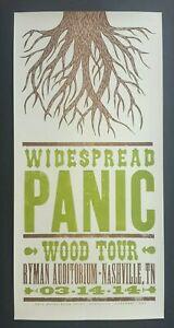 WIDESPREAD PANIC Hatch Show Print Nashville RYMAN 2014 WOOD TOUR! CONCERT POSTER