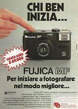 W5526 Macchina fotografica FUJICA MF - Pubblicità 1984 - Advertising