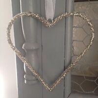 Shabby Chic Decorative Hanging Crystal Bead Heart