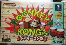 DONKEY KONGA + BONGHI DRUM NINTENDO GAMECUBE  NTSC/JAP VERSION COME NUOVO