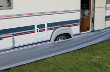 Eurotrail Wohnwagen-Windblende Bodenschürze 500 x 60 cm Polyester grau