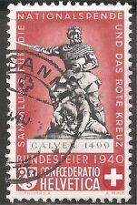 Switzerland Semi-Postal Stamp - Scott #B102/SP99 20c + 5c Canc/H 1940