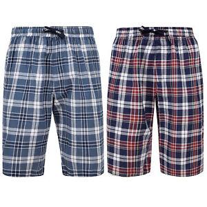 Mens Tokyo Laundry Shorts REDLOCK Greet Checked Tartan Knee Length Lounge Pyjama