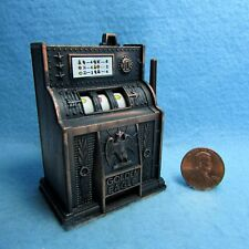 Dollhouse Miniature Metal Slot Machine ~ DDL9615