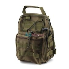 Army Green 1000D Molle Tactical Utility 3 Ways Shoulder Bag Pouch Backpack