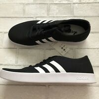 Adidas Easy Vulc 2.0 Low Canvas Skateboarding Shoes Mens 10.5 Black/White NEW!