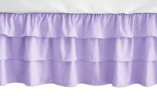 Solid Lavender Purple Ruffled Tiered Baby Ruffle Crib Bed Skirt by Sweet Jojo