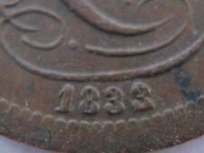 Belgium 1833/2 copper 1 Centime VF