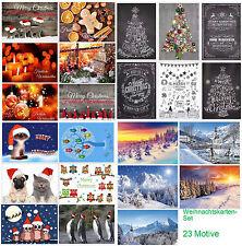 Set de tarjetas Navidad (23 X pieza - una mezcla colores diferentes Motivos