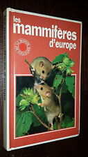 LES MAMIFERES D'EUROPE - Lain Bishop 1982