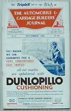 The AUTOMOBILE & CARRIAGE BUILDERS JOURNAL Magazine Nov 1935 Vol 75 No 450
