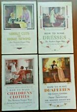 Vintage Set of 4 Singer Sewing Library Books — Dresses, Children, Draperies