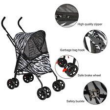 Cat Dog Pet Stroller Folding Carrier Cart Travel Jogger 4 Wheels