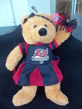 "Tampa Bay Buccaneers Plush Bear Cheerleader Stuffed Animal!  14""  NWT!  NEW"