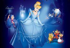 7x5ft witch Cinderella princess Carriage Blue Castle  backgrounds party backdrop