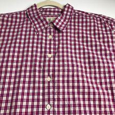 St. John's Bay Women Long Sleeve Button Up Shirt Top 20W Plus Purple Beige Plaid