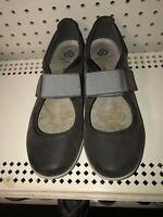 Clarks Cloudsteppers Sillian Bella Womens Leather Mary Janes Shoes Size 10 Gray
