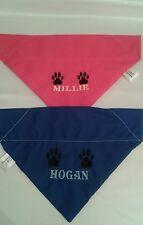 Personalised slide on dog bandanas size XS any plain colour .