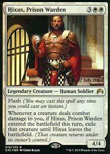 Hixus, prison Warden foil | nm | versiones preliminares promos | Magic mtg
