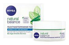NIVEA natural balance Moisturising Day Care without parabens 50ml New
