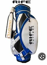 Rife Putter Tour Performance Golf Cart Tour Personale Borsa NUOVO BLU BIANCO